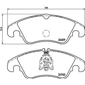 Bremsbelagsatz, Scheibenbremse BREMBO Art.No - P 24 161 OEM: 1567730 für VW, FORD kaufen