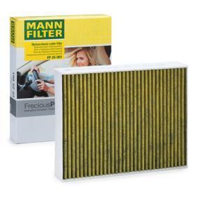 Filter, Innenraumluft MANN-FILTER Art.No - FP 25 001 OEM: 64119237554 für MERCEDES-BENZ, BMW, ALPINA kaufen