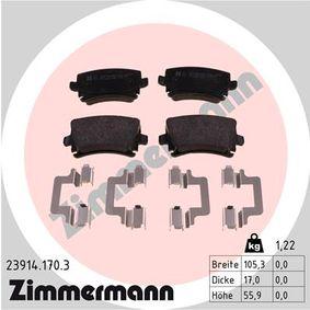 ZIMMERMANN Bremsbelagsatz, Scheibenbremse 23914.170.3