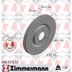 ZIMMERMANN Bremsscheibe (600.3215.52) niedriger Preis
