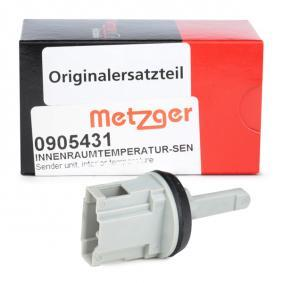 Golf IV Cabrio (1E) METZGER Sensor, Innenraumtemperatur 0905431