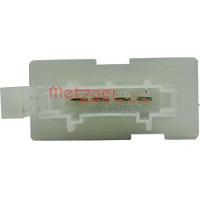 Blower motor resistor 0917160 METZGER