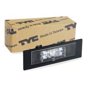 63267193294 für BMW, MINI, Kennzeichenleuchte TYC (15-0213-00-9) Online-Shop