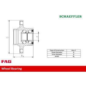 FAG Kit de roulement de roue 713 6110 00