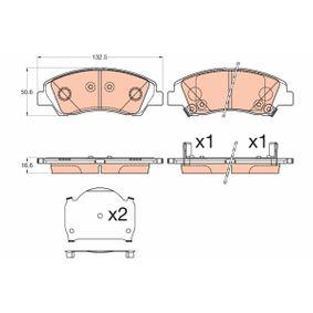 Bremsbelagsatz, Scheibenbremse TRW Art.No - GDB3618 OEM: 58101B9A70 für HYUNDAI, CITROЁN, KIA, SUZUKI kaufen