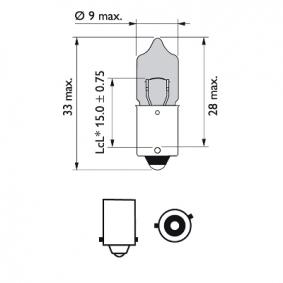 Bulb, indicator 12036WHVB2 online shop
