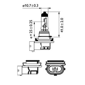 Крушка с нагреваема жичка, фар за дълги светлини 12360WHVB1 онлайн магазин