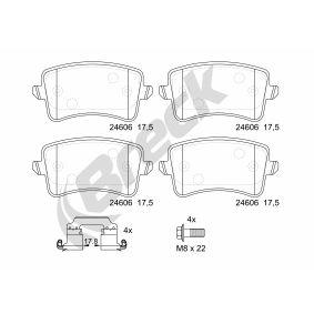 34116775314 für BMW, JAGUAR, Bremsbelagsatz, Scheibenbremse BRECK (24688 00 701 10) Online-Shop