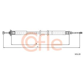 Brake cable COFLE (631.20) for FIAT PUNTO Prices