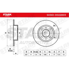 Discos de freno (SKBD-0022803) fabricante STARK para CITROËN C3 I Hatchback (FC_, FN_) año de fabricación 02/2002, 90 CV Tienda online