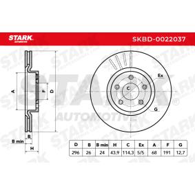 40206JD00B für NISSAN, INFINITI, Bremsscheibe STARK (SKBD-0022037) Online-Shop