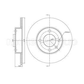 Bremsscheibe METELLI Art.No - 23-0054 OEM: 823615301 für VW, AUDI, SKODA, SEAT, PORSCHE kaufen