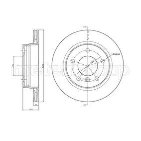 Bremsscheibe METELLI Art.No - 23-0450C OEM: 34211162315 für BMW, MINI kaufen