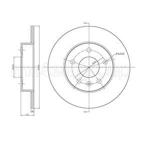 Bremsscheibe METELLI Art.No - 23-0489C OEM: 90575113 für OPEL, CHEVROLET, VAUXHALL kaufen