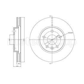 Bremsscheibe METELLI Art.No - 23-1001C OEM: 569073 für OPEL, CHEVROLET, BUICK, VAUXHALL, PLYMOUTH kaufen