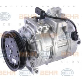 Compresor, aire acondicionado HELLA Art.No - 8FK 351 322-271 OEM: 8E0260805AH para VOLKSWAGEN, SEAT, AUDI, VOLVO, SKODA obtener