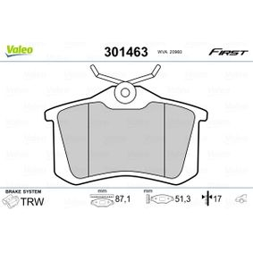 VALEO Bremsbelagsatz, Scheibenbremse 1J0698451R für VW, AUDI, FORD, RENAULT, PEUGEOT bestellen