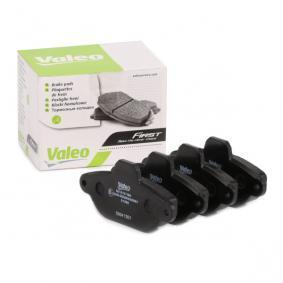 PANDA (169) VALEO Brake pad set disc brake 301012