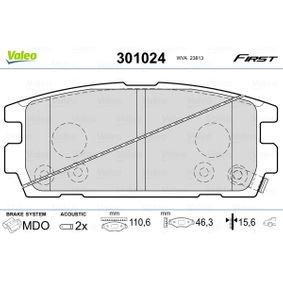 Bremsbelagsatz, Scheibenbremse VALEO Art.No - 301024 OEM: 58302H1A00 für TOYOTA, HYUNDAI, KIA kaufen