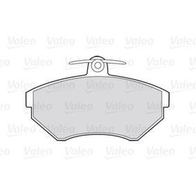 VALEO Bremsbelagsatz, Scheibenbremse 357698151D für VW, AUDI, SKODA, SEAT bestellen