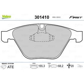 Bremsbelagsatz, Scheibenbremse VALEO Art.No - 301410 OEM: 34116794917 für BMW, MINI kaufen