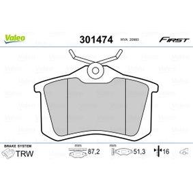 VALEO Bremsbelagsatz, Scheibenbremse (301474) zum günstigen Preis