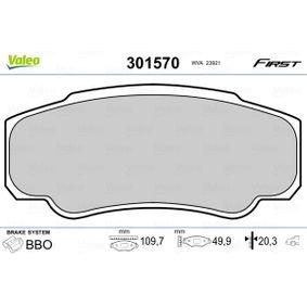 Bremsbelagsatz, Scheibenbremse VALEO Art.No - 301570 OEM: 425468 für FIAT, PEUGEOT, CITROЁN kaufen