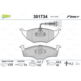 Bremsbelagsatz, Scheibenbremse VALEO Art.No - 301734 OEM: 8Z0698151 für VW, AUDI, SKODA, SEAT kaufen
