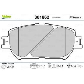 Bremsbelagsatz, Scheibenbremse VALEO Art.No - 301862 OEM: 0446533320 für OPEL, TOYOTA, HYUNDAI, KIA, LEXUS kaufen
