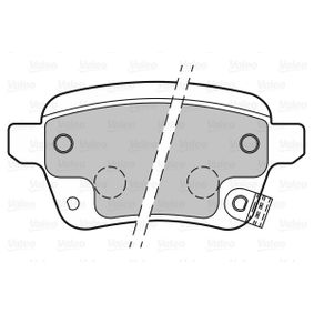 Bremsbelagsatz, Scheibenbremse VALEO Art.No - 601399 OEM: 77366336 für FIAT, ABARTH kaufen