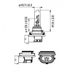 12361B1 Glühlampe, Fernscheinwerfer von PHILIPS Qualitäts Ersatzteile