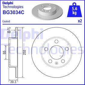 DELPHI VW GOLF Bremsscheiben (BG3034C)