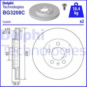 DELPHI VW GOLF Bremsscheiben (BG3208C)