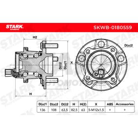 FORD FOCUS 1.8 TDCi 115 CV año de fabricación 01.2005 - Cojinete de rueda (SKWB-0180559) STARK Tienda online