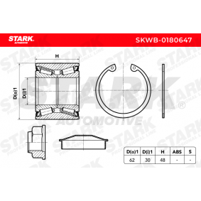 MEGANE III Coupe (DZ0/1_) STARK Radnabe SKWB-0180647