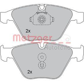 Bremsbelagsatz, Scheibenbremse METZGER Art.No - 1170090 OEM: 34116794916 für BMW kaufen
