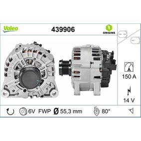 VALEO 439906 Generator OEM - AV6N10300GC FORD, VALEO, FORD USA, INA, BV PSH, MOBILETRON, AS-PL, GFQ - GF Quality günstig