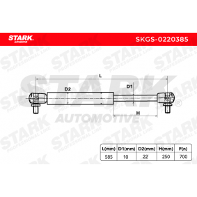 STARK Heckklappendämpfer / Gasfeder (SKGS-0220385) niedriger Preis