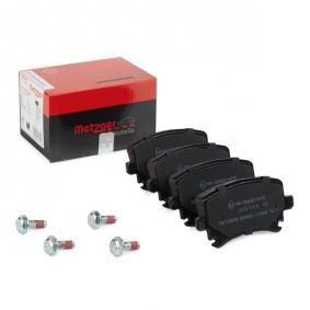 Bremsbelagsatz, Scheibenbremse METZGER Art.No - 1170005 OEM: 1K0698451D für VW, AUDI, FORD, SKODA, SEAT kaufen