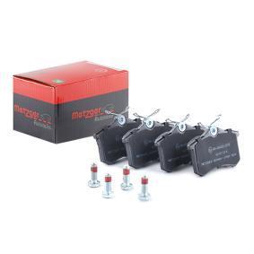 Bromsbeläggssats, skivbroms METZGER Art.No - 1170001 OEM: 1J0698451N för VW, AUDI, FORD, RENAULT, PEUGEOT köp