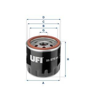 UFI 23.575.00 Ölfilter OEM - 04E115561A AUDI, SKODA, VW, VAG, AUDI (FAW), VW (SVW), SKODA (SVW) günstig