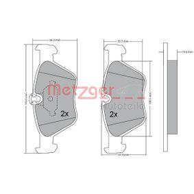 Bremsbelagsatz, Scheibenbremse METZGER Art.No - 1170086 OEM: 34111164330 für BMW, ALPINA kaufen