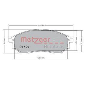 METZGER Bremseklodser foraksel 1170101 af original kvalitet
