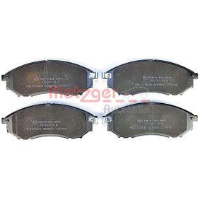 METZGER Bremseklodser foraksel 4250032667917 Rating