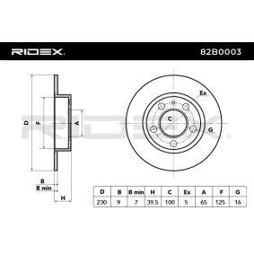 RIDEX Discos de freno 82B0003