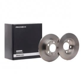 RIDEX Disco de travão Eixo traseiro, Ø: 230mm, Cheio 98200082501PRO conhecimento especializado