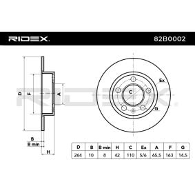 RIDEX Bremsscheibe 82B0002