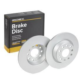 1K0615601AD за VW, AUDI, MAZDA, SKODA, SEAT, Спирачен диск RIDEX (82B0137) Онлайн магазин