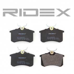 RIDEX 402B0029 Bremsbelagsatz, Scheibenbremse OEM - E172204 CITROËN, PEUGEOT, PIAGGIO, CITROËN/PEUGEOT, CITROËN (DF-PSA), AUTOMOTOR France, STELLOX, DS, EUROREPAR günstig