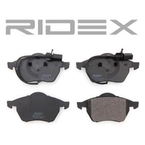 RIDEX комплект спирачно феродо, дискови спирачки 4059191313174